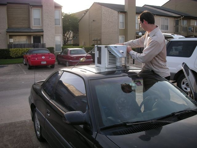 selbstgebaute Kilmaanlage fürs Auto