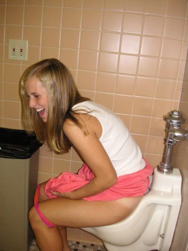Really. Candid nude bathroom girls peeing
