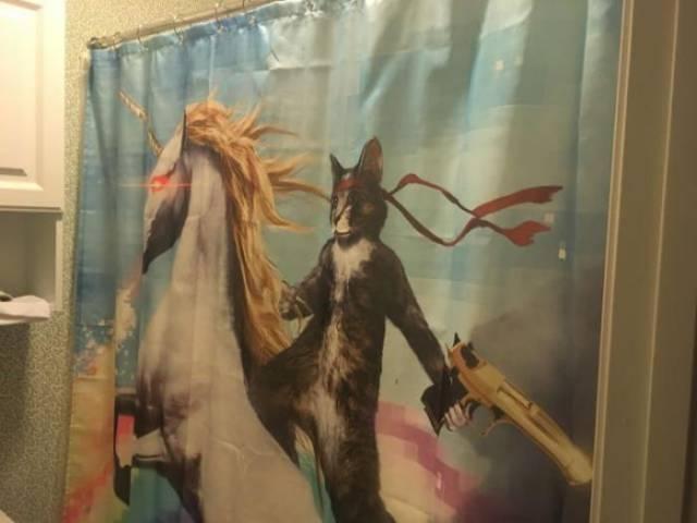 außergewöhnliche Duschvorhänge