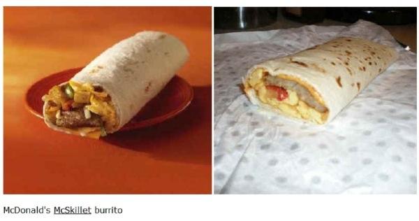 Fastfood: Werbung vs. Wirklichkeit