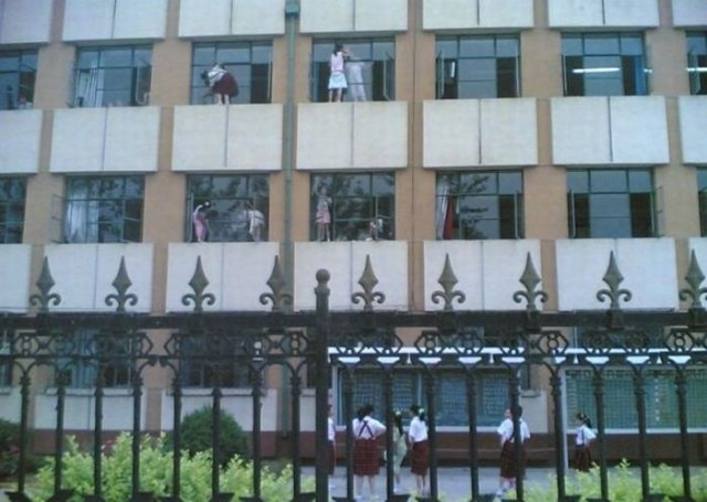 Fenster putzen in China