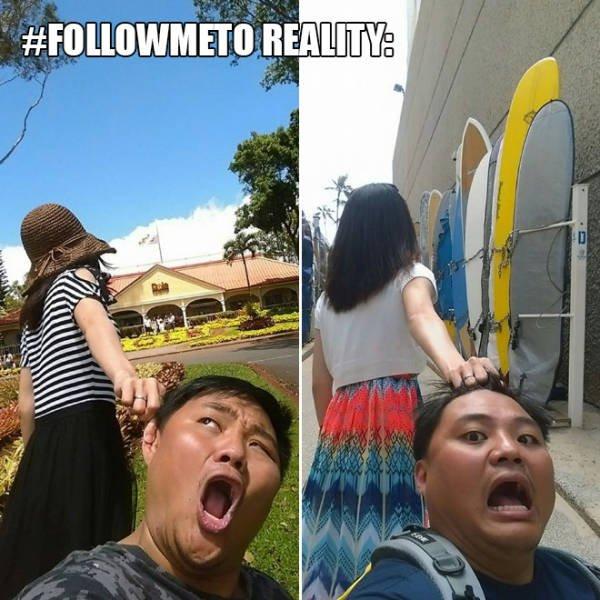 Folge mir: Erwartung vs Realität