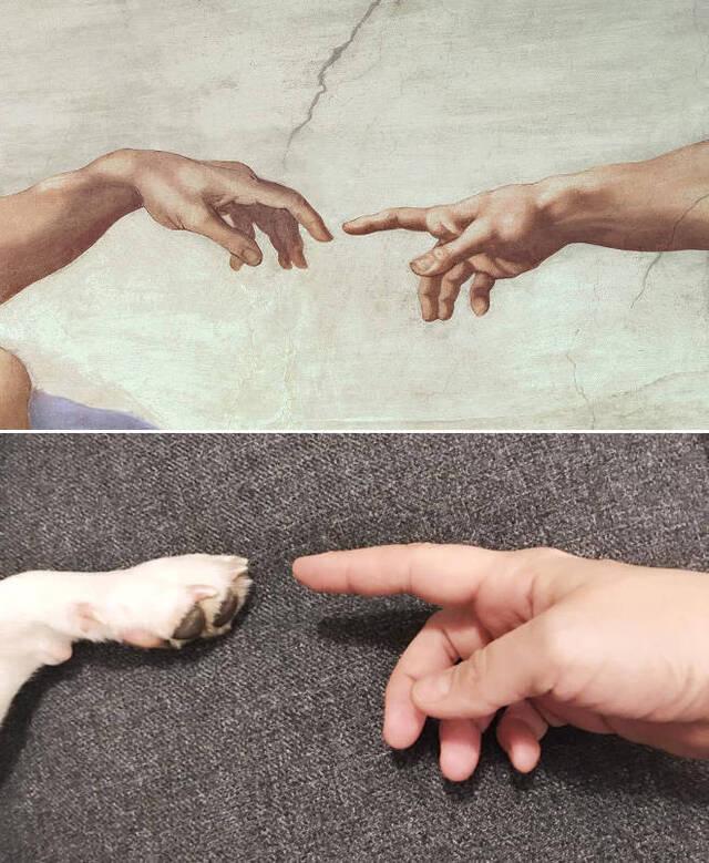 Gemälde nachgestellt