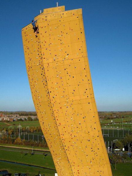 Höchste freistehende Kletterwand der Welt