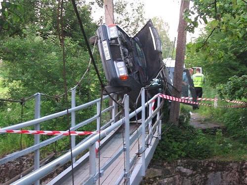 komische Autounfälle