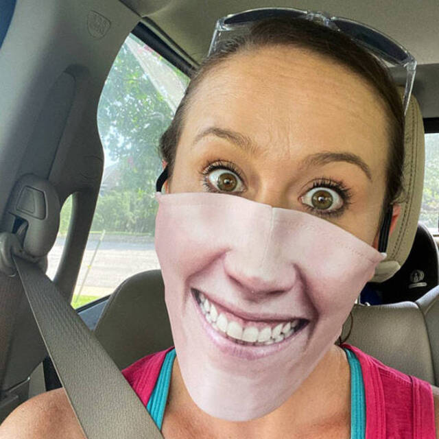 Normale Gesichtsmasken sind langweilig