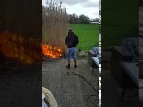 feuer im garten video auf. Black Bedroom Furniture Sets. Home Design Ideas